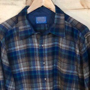 Men's vintage Pendleton Camp Flannel XL